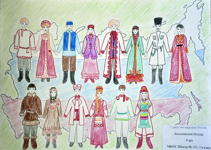 Национальные костюмы моего народов россии рисунки